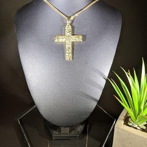 🆕🚨 Sale 🚨 Hip Hop 14K GP Cross Pendant